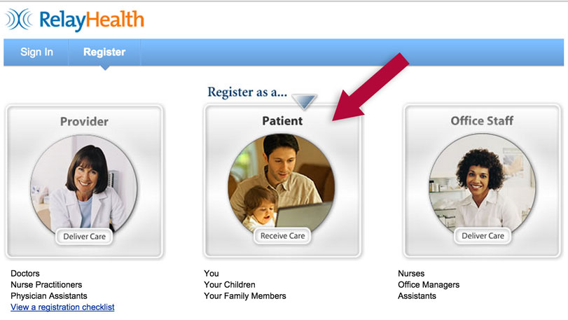 Relay Health patient selection screenshot