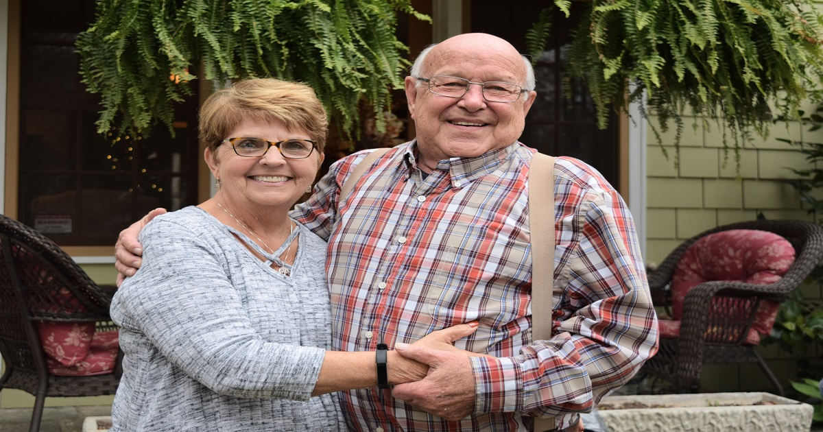 After completing cardiopulmonary rehab, Jim Tomlinson and his wife celebrated their 50th anniversary on an Alaskan cruise.