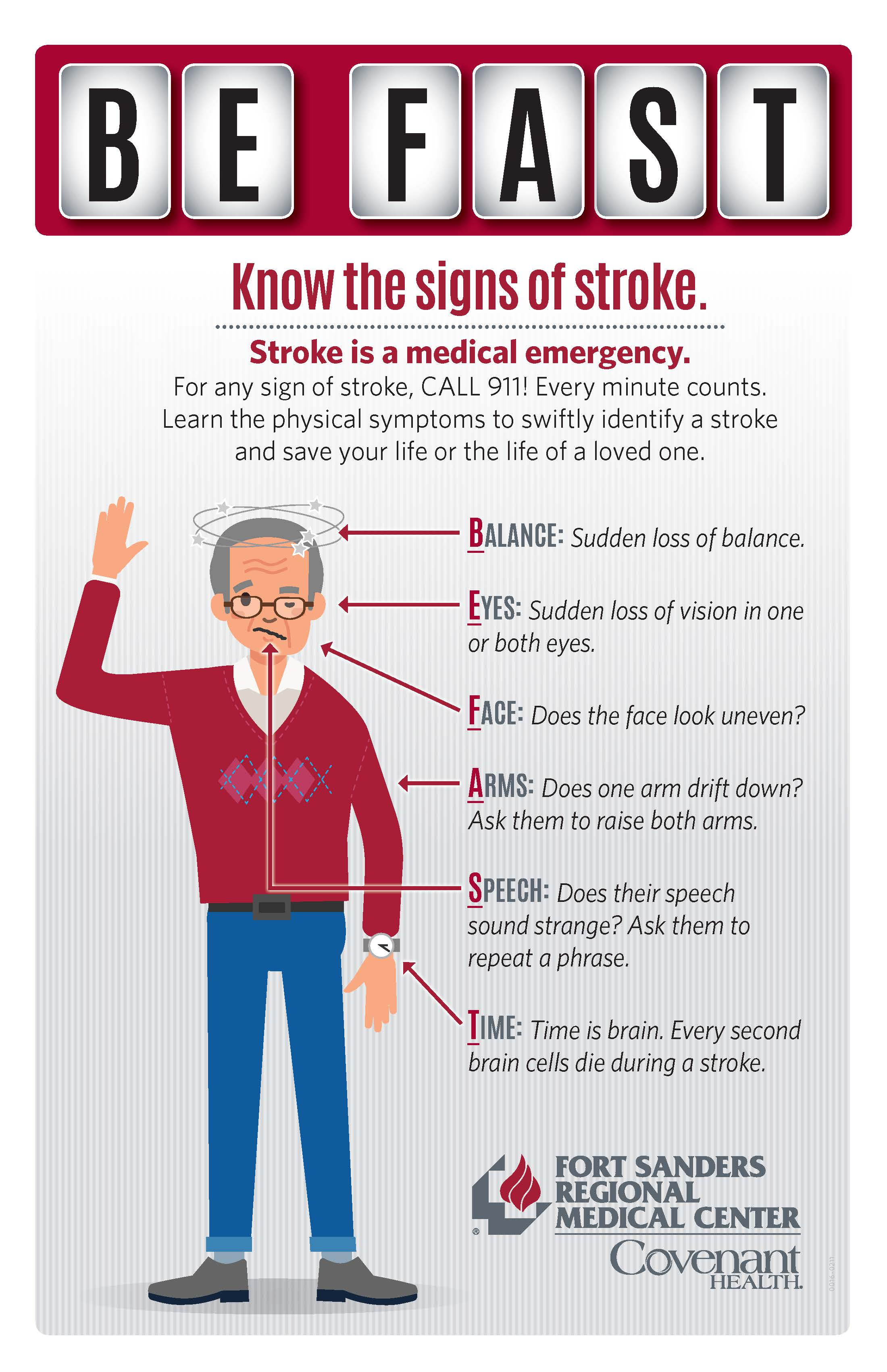 know the signs of stroke. BEFAST.