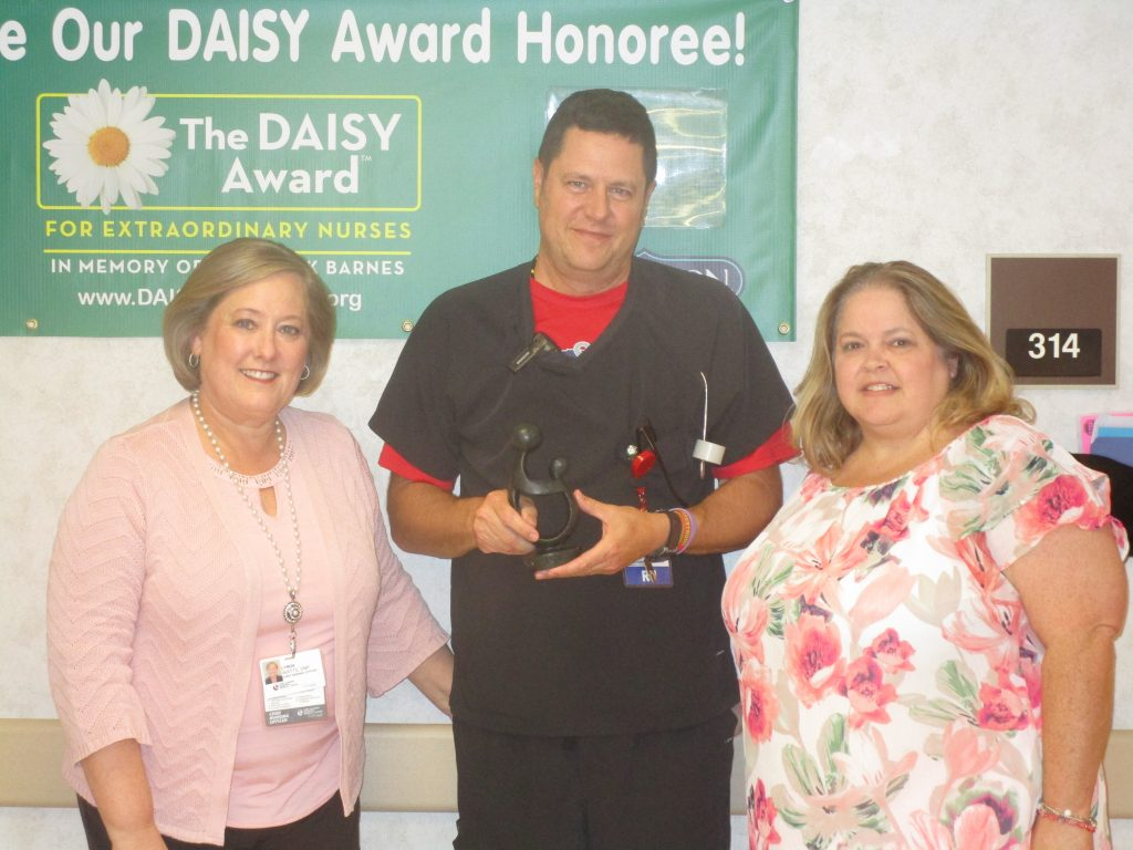 Mark Ellison, a RN on 3 North, is the recipient of the May DAISY Award.
