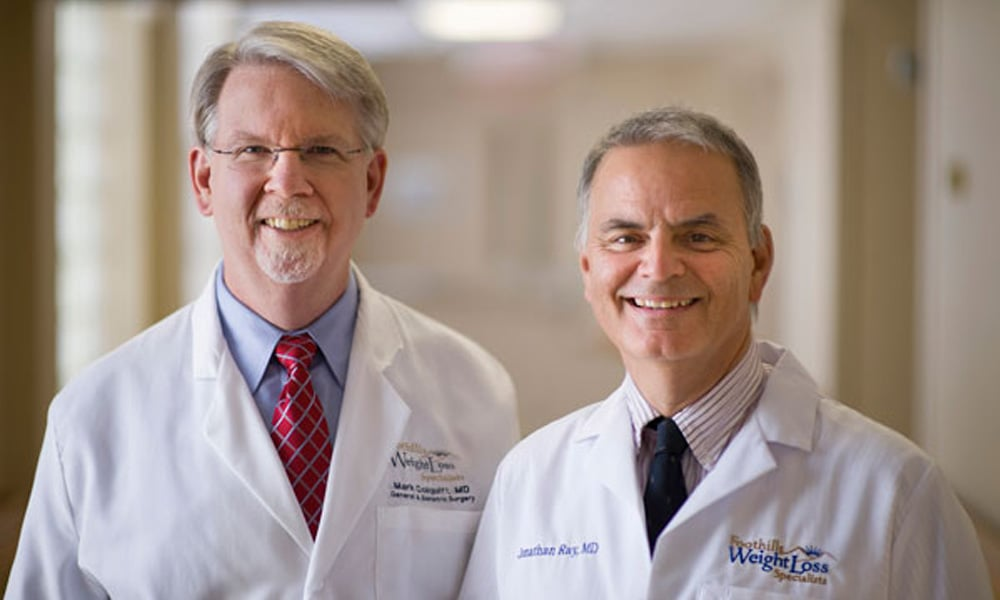 Bariatric surgeons Mark Colquitt, MD, and Jonathan Ray, MD