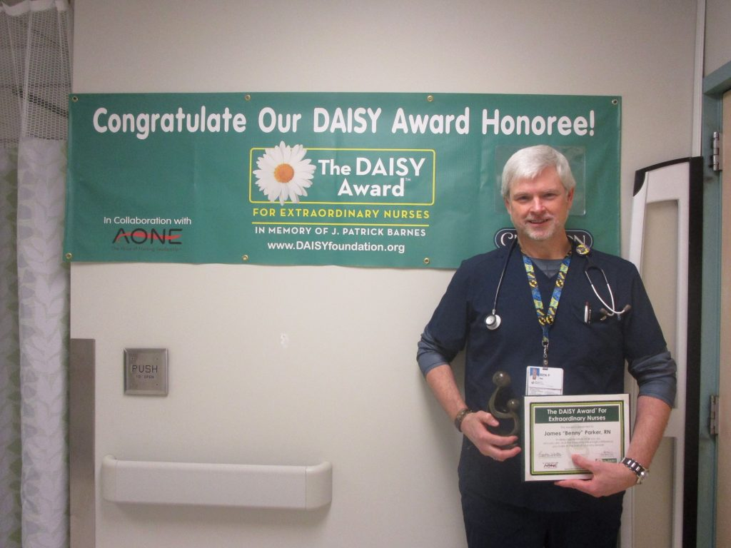 Benny Parker - December DAISY Award winner