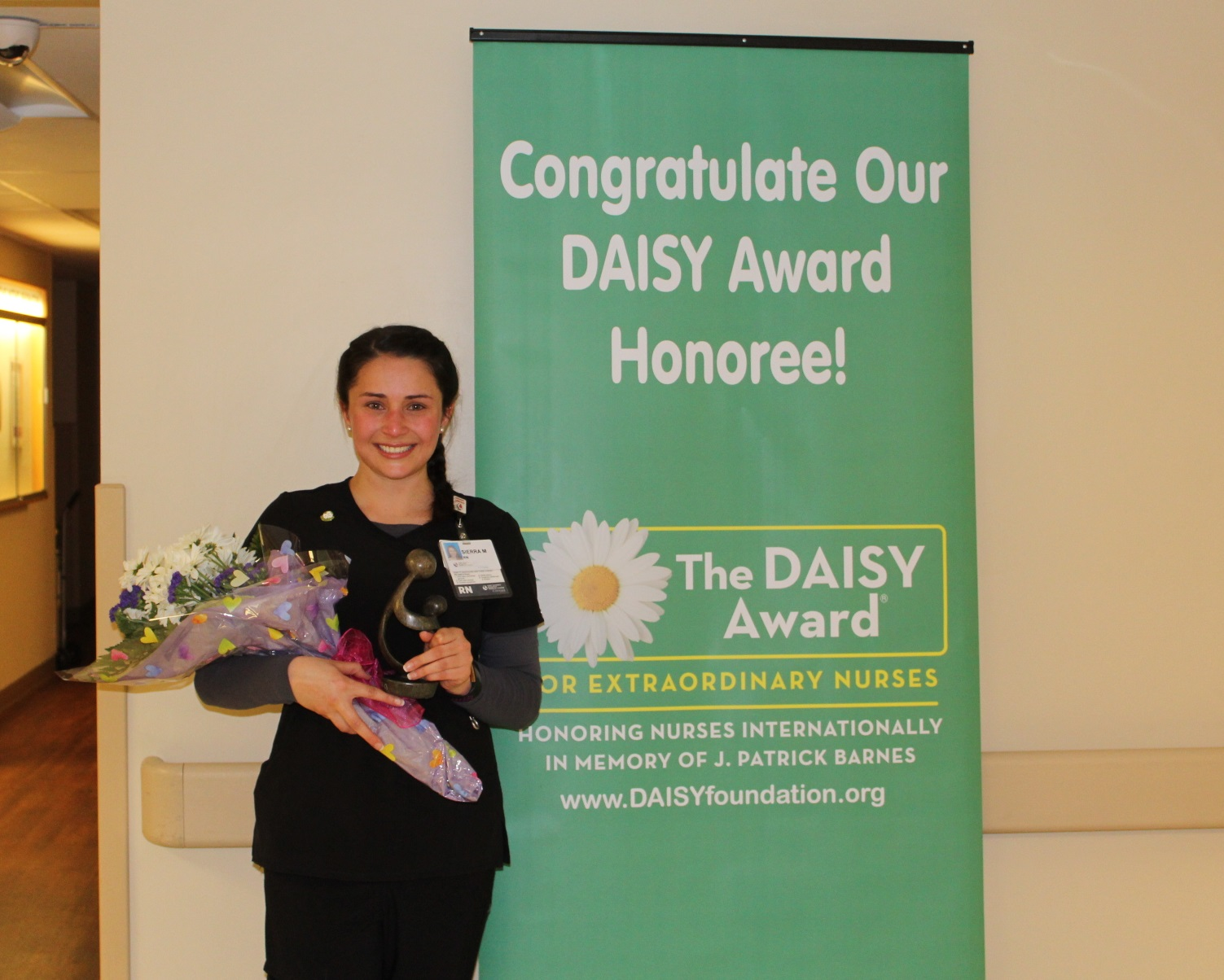Sierra McAllister, a nurse in the emergency department, is the recipient of our February DAISY Award.