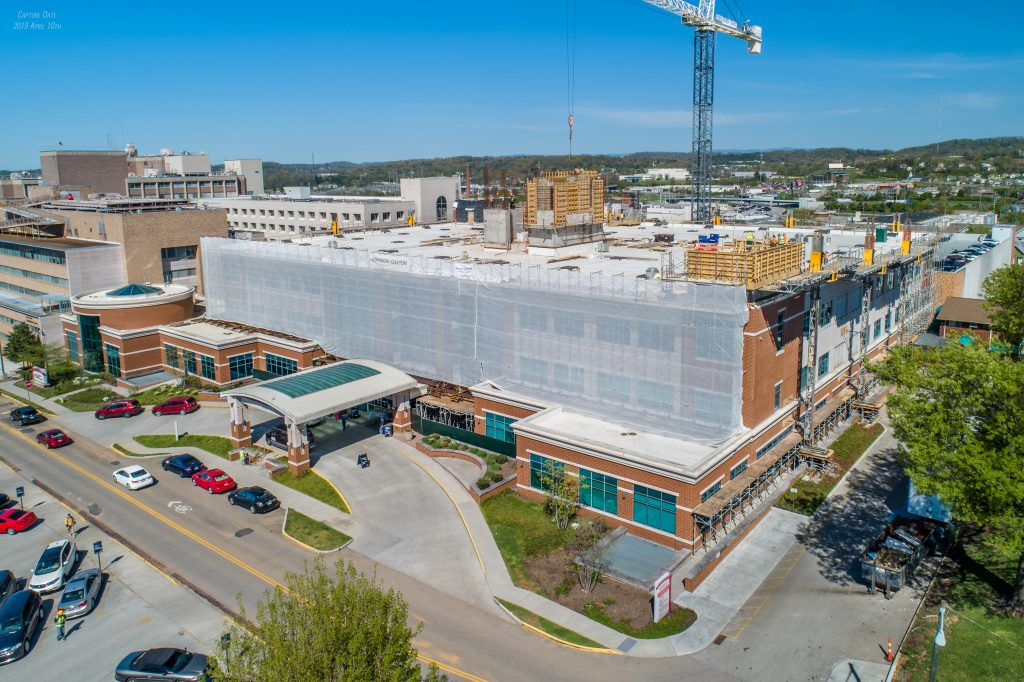 Photo of construction at the Center for Advanced Medicine at Fort Sanders Regional Medical Center