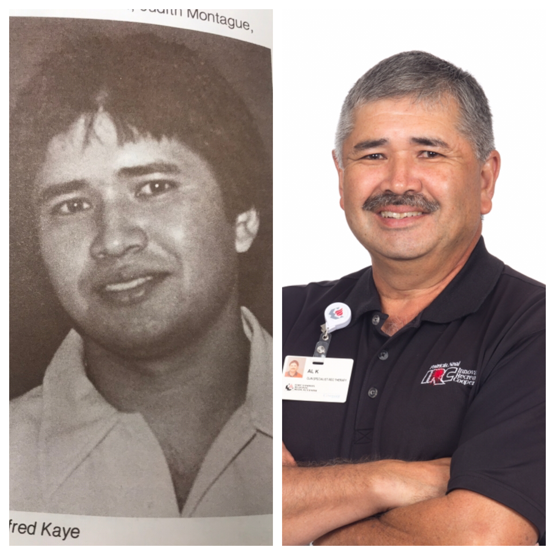 Al Kaye then and now