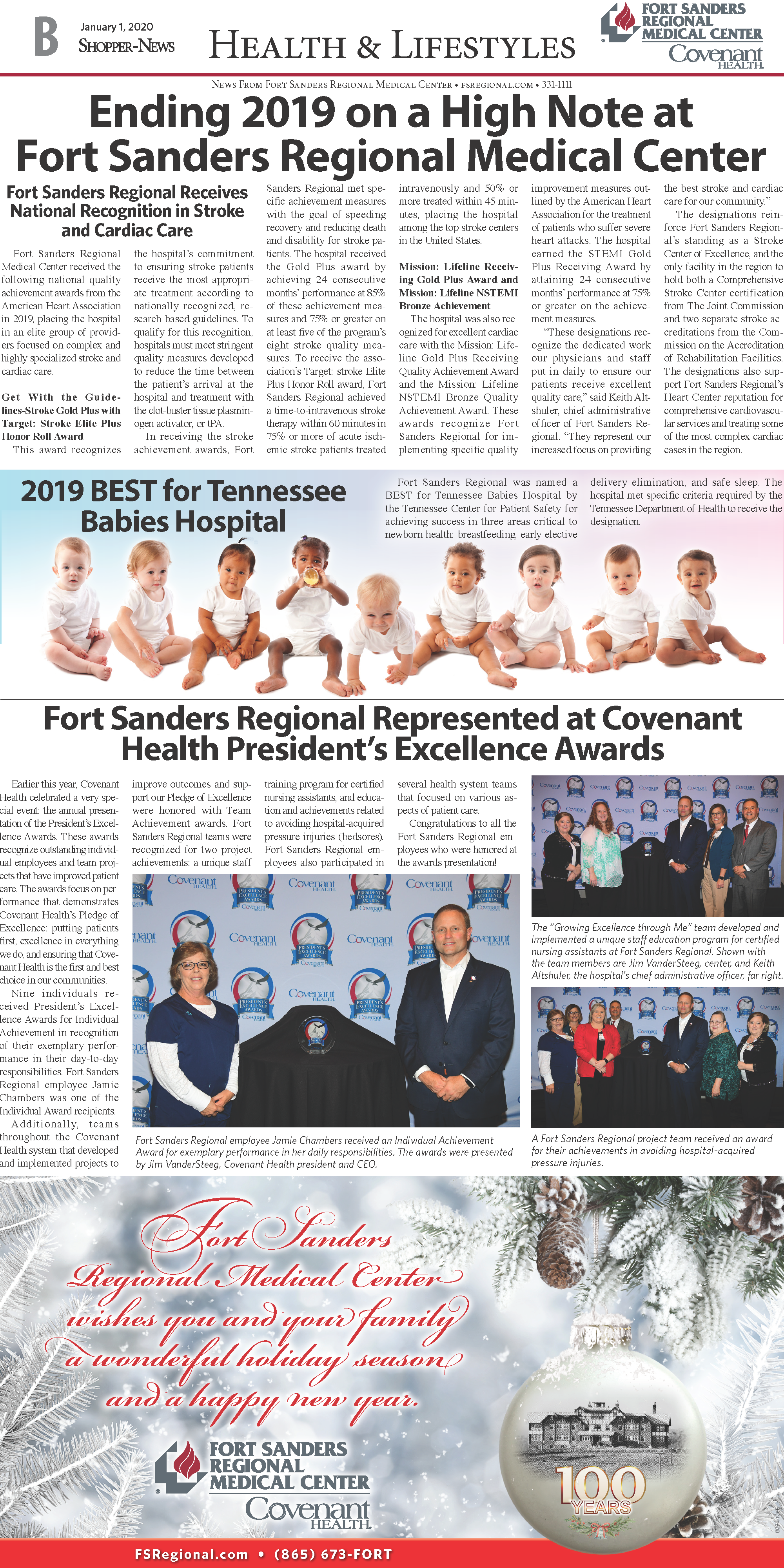2019 awards round-up for Fort Sanders Regional Medical Center; A Shopper News feature