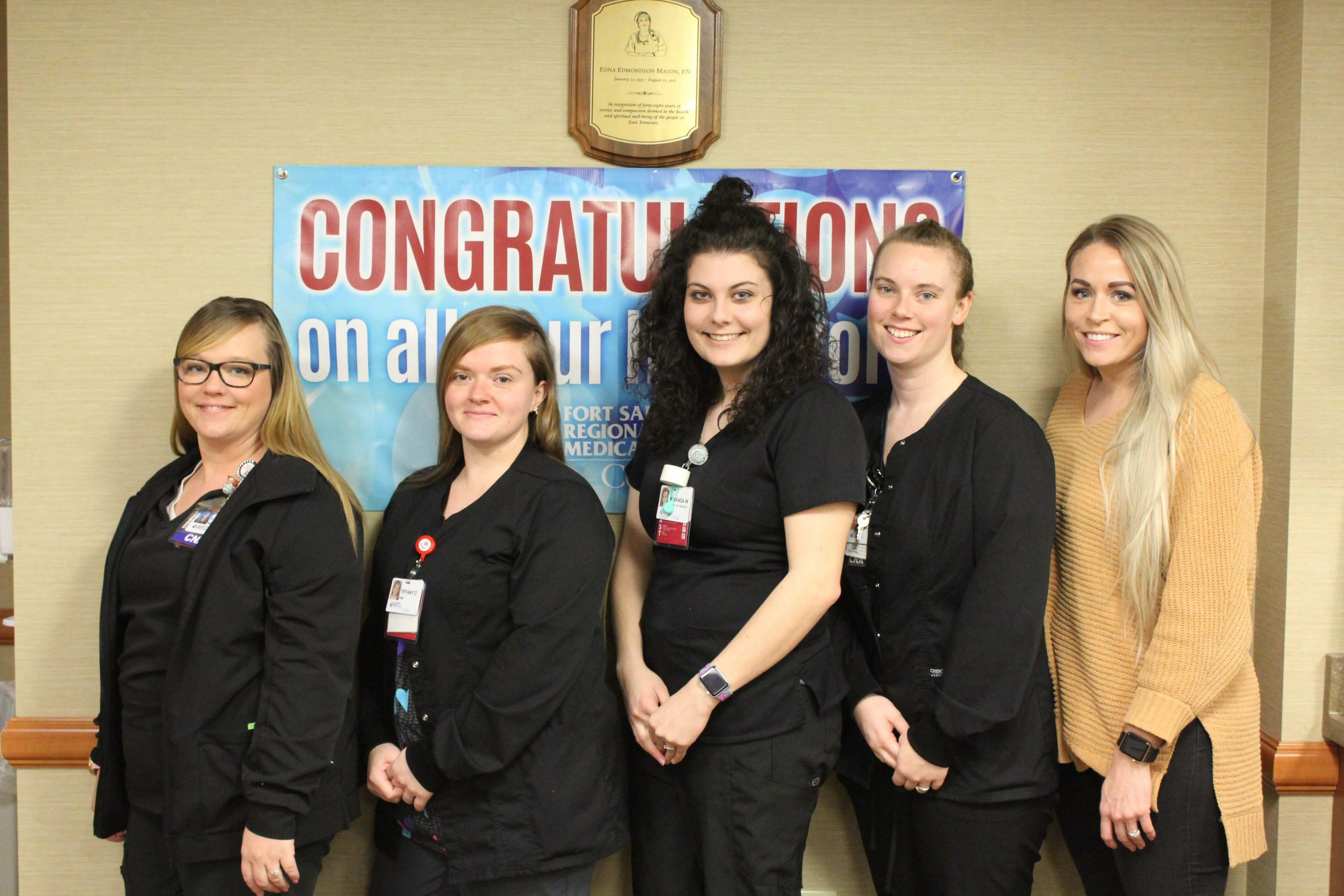 G.E.M. Students who completed their CNA certifications through our GEM-TCAT partnership