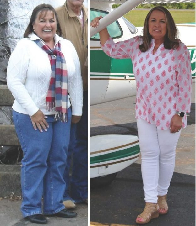 Jenny Jones before and after her weight loss