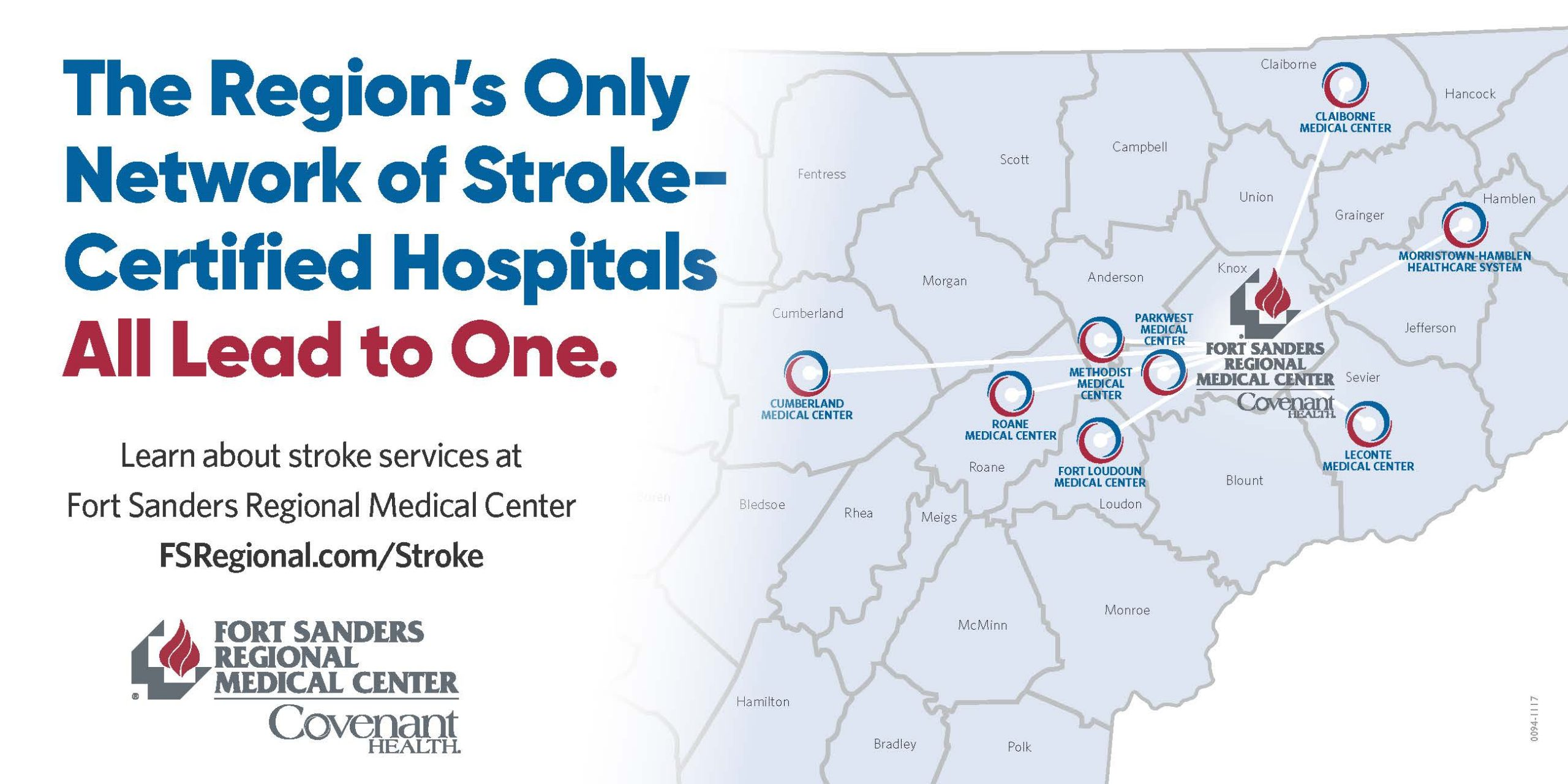 The region's only network of stroke-certified hospitals all lead to one.