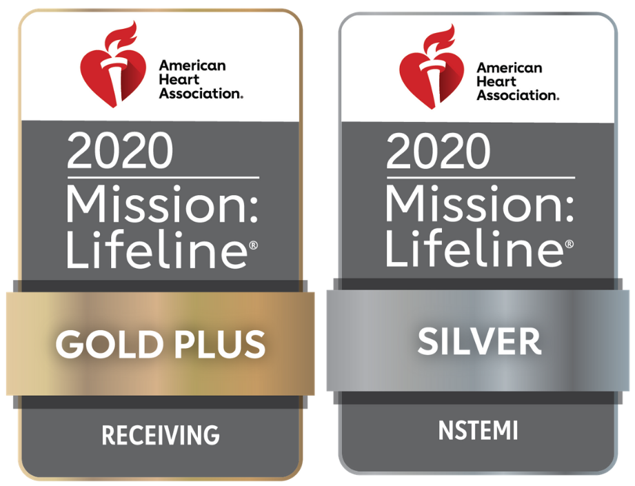 American Heart Association 2020 Mission: Lifeline Gold Plus Receiving and Silver NSTEMI awards