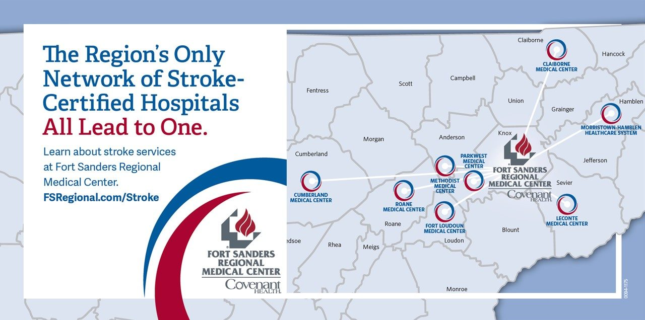 the regions only network of stroke-certified hospitals all lead to one: Fort Sanders Regional
